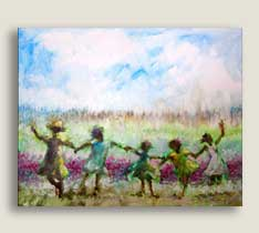 Joyful Dance Spring 16x20 Canvas